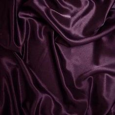Shop 1 X Polyester Silky Satin Charmeuse at Artsy Sister. Satin Fabric, Woven Fabric, Fabric Empire, Bar Lighting, It Is Finished, Satin Finish, Wedding Centerpieces, Yards, Plum