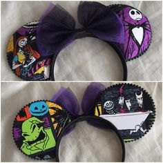 Nightmare Before Christmas - Minnie Mouse Inspired Disney Ears... Source…