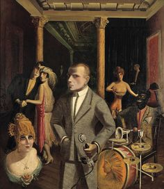 The German painters George Grosz and Otto Dix interpeted life in Weimar-era Berlin. Bob Fosse and his team drew on their work as visual inspiration for the look of Cabaret, especially the interiors of the Kit-Kat Klub and the boarding house. (The...