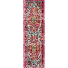 nuLOOM Distressed Abstract Vintage Oriental Multi Runner Rug (2'6 x 8')