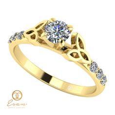 Inel din aur cu diamante ES103 Engagement Rings, Jewelry, Fashion, Diamond, Enagement Rings, Moda, Wedding Rings, Jewlery, Jewerly