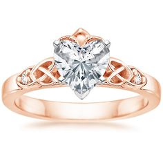 14K Rose Gold Celtic Claddagh Ring from Brilliant Earth