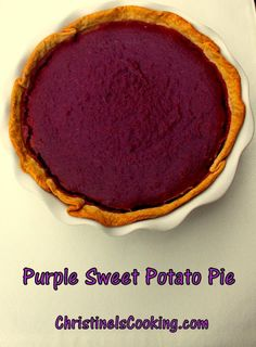 Purple Sweet Potato Pie I just wish I could find these potatoes. They are from NC but sold out!