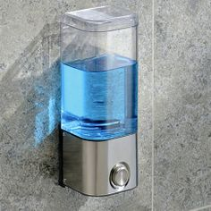Shampoo that never gets in the way! The attractive, 20 oz. easy lock pro® chrome shampoo dispenser saves space, and makes shampoo easy to find without navigating through conditioners, scrubs or lotions. Press button to dispense an even amount every time. Clear body lets you know when it's running...