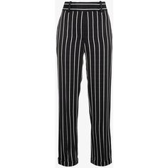 Haider Ackermann Stripe Trousers (2.570 BRL) ❤ liked on Polyvore featuring pants, black and white stripe pants, viscose pants, white and black striped pants, black and white striped pants and rayon pants