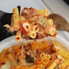 Baked Ziti Pasta Recipe Recipe - LaaLoosh