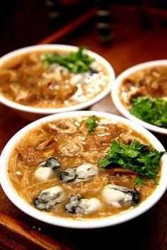oyster noodle soup | Taiwanese Food 蚵仔麵線 Taiwan Street Food, Taiwan Food, Easy Asian Recipes, Ethnic Recipes, Taiwanese Cuisine, Taiwanese Recipe, Soup Recipes, Cooking Recipes, Oyster Recipes