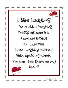 Ladybugs: A Kindergarten Literacy Unit
