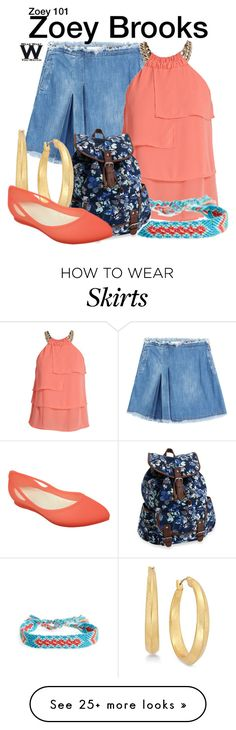 """""""Zoey 101"""" by wearwhatyouwatch on Polyvore featuring See by Chloé, Morgan, Half United, Aéropostale, Lauren Ralph Lauren, Crocs, television and wearwhatyouwatch"""