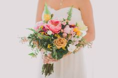 Ojai peony bouquet | Florals and Design by Hello Gem Events | Photography by Fondly Forever