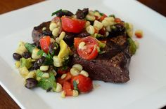 Grilled Steak with Grilled Corn and Black Bean Salsa-116.jpg by From Valerie's Kitchen, via Flickr