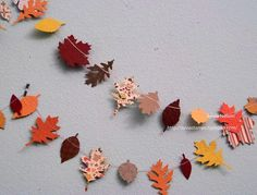 Fall Leaf Garland......9 Ft of Leaves and by Sylviascorner on Etsy