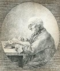 Adolf Gottlieb Friedrich, Reading - Caspar David Friedrich