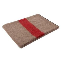 Earth with Red Stripe Swiss Army Style Wool Blanket - Walmart.com