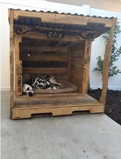 Watch these stylish designs of pallet dog houses and choose the one which you like the most. These are easy to make and yet elegant pallet dog house designs.