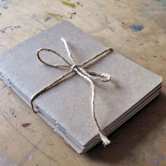 Set of 3 Pocket sized note/sketch books made from recycled paper.