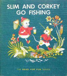 SLIM AND CORKEY GO FISHING :Cecilia & Jean Hinde http://twin-rabbit.com/?pid=74555596
