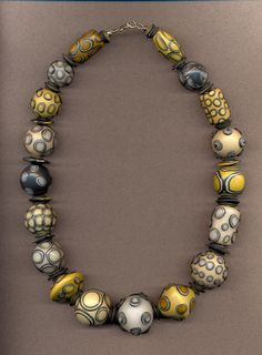 Ruth Anderson, Big Eye Bead Necklace, polymer clay