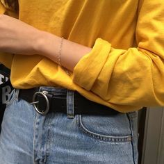Find images and videos about style, outfit and aesthetic on We Heart It - the app to get lost in what you love. Aesthetic Colors, Aesthetic Pictures, Aesthetic Clothes, Aesthetic Yellow, Aesthetic Outfit, Mellow Yellow, Mustard Yellow, Blue Yellow, Yellow Theme