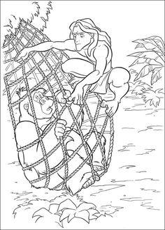 Tarzan Målarbilder för barn. Teckningar online till skriv ut. Nº 16