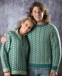 Free Universal Yarn Pattern : His and Hers Pullover by Melissa Leapman