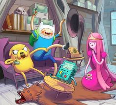 what time is it!? by MissImp  AdventureTime!!   look out beamo!!