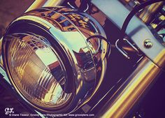 """""""Vintage Headlight"""" by © Diane Tisseur, Groovy Lens, www.groovylens.com, via 500px -- Motorcycle - Gold - Photography"""