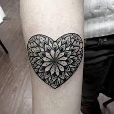Image result for heart mandala tattoo