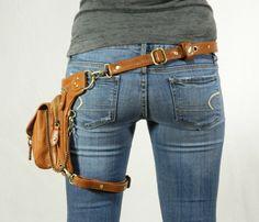 Boho Pack - (Brown) Thigh Holster, Protected Purse, Shoulder Holster, Handbag, Backpack, Purse, Messenger Bag, Fanny Pack