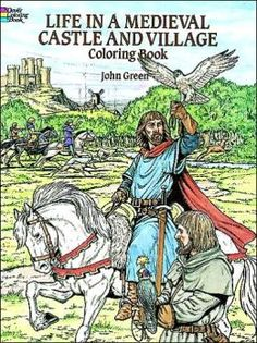 History AD - Life in a Medieval castle and village colouring book