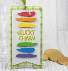 i love 2 cut paper: Lucky Charm Tag