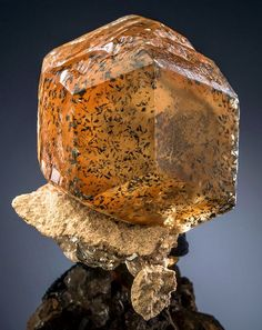 Calcite with Marcasite inclusions, Berry Materials Corp. Quarry, North Vernon, Jennings County, Indiana, USA