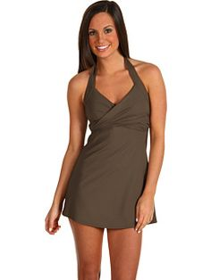 207af0fd5f Calvin Klein Solid Crossover Swimdress Iron - Zappos.com Free Shipping BOTH  Ways | Swimsuits | Swim dress, Fashion, Modest swimsuits