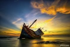 Photo: Wrecked boat