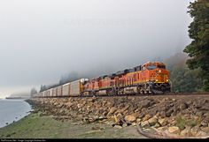RailPictures.Net Photo: BNSF 8258 Burlington Northern Santa Fe GE ES44C4 at Edmonds, Washington by Andrew Kim
