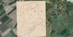 A selection of the maps highlight artillery gun emplacements, machine guns, mines, wire entanglements, and observation posts. Many show the names of nearby farms, villages, woods, and other landmarks, too. Pictured is Serre in France. It was one of the strongly fortified villages held by the Germans at the beginning of the Battle of the Somme. The village, about five miles north of Albert, marked the most northern point of the main attack on the 1 July 1916