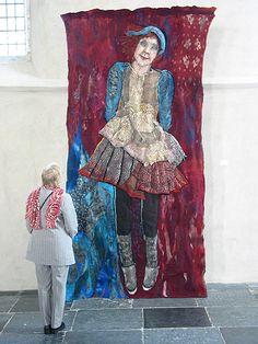 archief   Textielkunstenaar Textile Fiber Art, Fibre Art, Felt Wall Hanging, Felt Embroidery, Textiles, Quilt Stitching, Weaving Art, Felt Art, Knitting Yarn