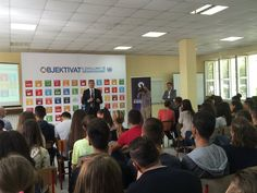 Full House at the SocialGood Summit in Tirana discussing with students about the power of technology to advance development. #GlobalGoals #2030Now I UNDP Albania (@UNDPAlbania)