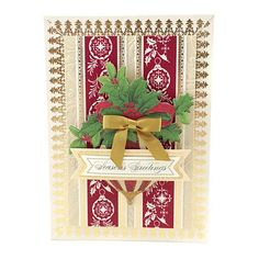 Anna Griffin® Holiday Foil and Die-Cut Border Stickers