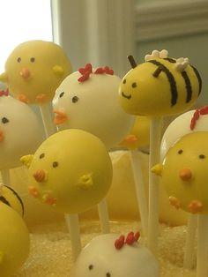 Barnyard fun cake pops