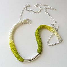 spool knit necklace                                                                               More