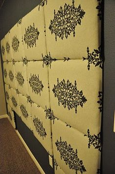 All Things Thrifty Home Accessories and Decor: Tutorial: How to make a Fabric Headboard