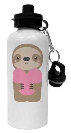 Add this cheeky valentines sloth to your collection! This is a perfect little gift for the upcoming holiday: http://all-things-sloth.com/5-lovely-sloth-water-bottles-you-need-to-own/ Aluminum Water Bottles, Sloth, Decorative Accessories, Valentines, Heart, Drinks, Cute, Valentines Diy, Saint Valentine