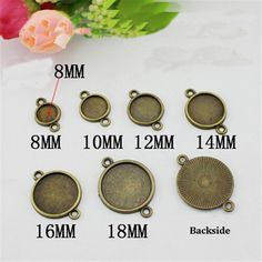 DIY Accessories Vintage Jewelry Base Antique Bronze Copper Cameo Cabochon Bracelet Blank Base Setting F1755(