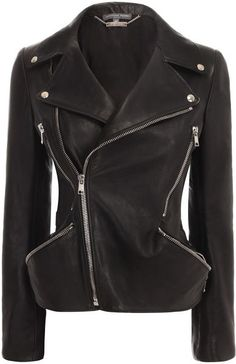 I know I'm dreaming because it's McQueen, but I'm looking for a jacket like this. ALEXANDER MCQUEEN Zip Hip Classic Mcqueen Leather Biker Jacket