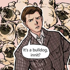 JB (aka Jack Bauer) I got stuck in making the dialogue for my Kingsman comic so I drew this instead. I need to practice drawing more pugs :) Eggsy Kingsman, Kingsman Movie, The Kingsman, Baguio, Series Movies, Movies And Tv Shows, Kingsman The Secret Service, Eggsy Unwin, Alex Rider