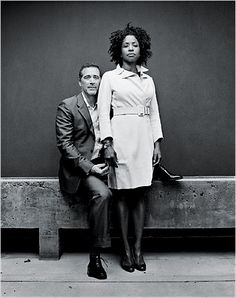 Power couple, artists James Casebere and Lorna Simpson. Photo by Robert Maxwell. (I just love everything about this photo! Interacial Love, Interacial Couples, Mixed Couples, Cute Couples, Power Couples, James Casebere, Simpsons Artist, Image Couple, Black Woman White Man