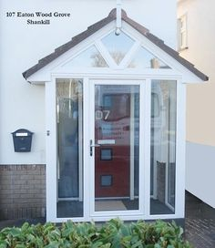 First Class found entrance porch design Related Site Porch Windows, Porch Doors, Porch Entry, Porch Uk, Porch Designs Uk, Front Porch Design, Front Door Canopy, Porch Canopy, Porch Extension