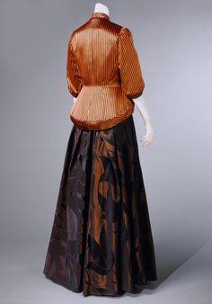 Evening dress & jacket (image 2) | House of Schiaparelli | Paris | Spring 1948 | silk satin, rayon | Philadelphia Museum of Art | Accession #: 1969-232-30a,b