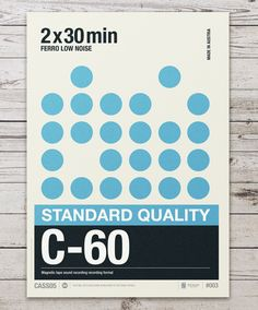 Retro Graphic Design Of Cassette Labels Turned Into Gorgeous Typographic Posters - DesignTAXI.com